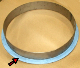 PTFE, 25% Glass Filled, Cut and Bonded to a Polyslinger