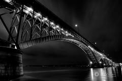Journeys: Peace Bridge in B&W