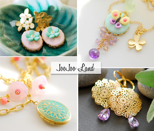 freshly picked find, joojoo land handmade jewelry