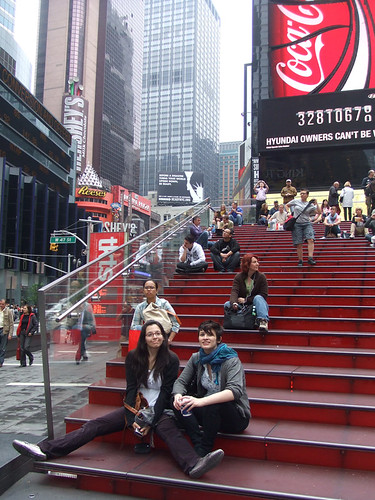dani and kara in time square-a