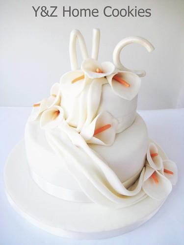 Gelin çiçekli söz pastası