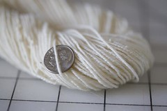 White Merino 3-ply Fingering