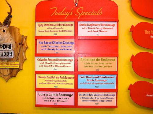 hot doug's menu