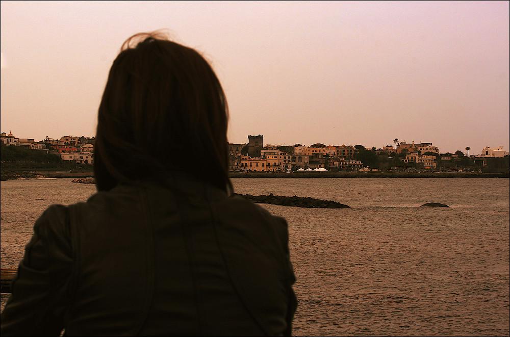 "Summer on a solitary beach ""Forio"""