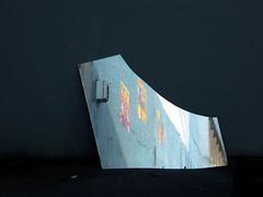 2010-03-21-Canal38aa (L'imaGiraphe) Tags: paris france reflection muro wall poster graffiti mirror canal wand bank reflet kanal miroir mur reflexion quai channel ourcq villette canale affiche brisé 75019 riflessione paris19