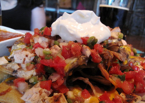 Chicken nachos at Simone's in Pilsen