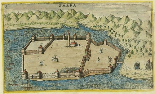 Zarra - map of Zadar, Croatia