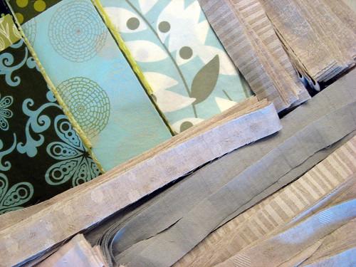 Asterisk Quilt Fabrics - detail of Linen strips