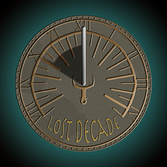 Lost Decade Games sundial (copper) logo