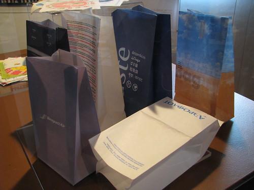 Sick bag collection