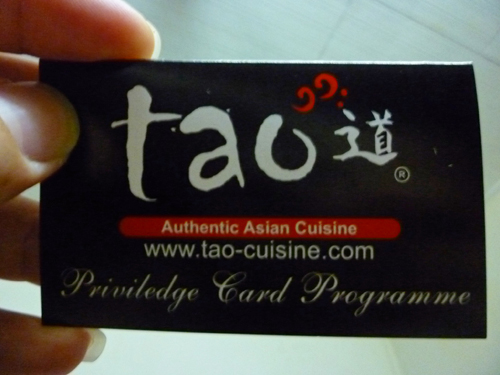Tao Japanese Buffet Privilege Card