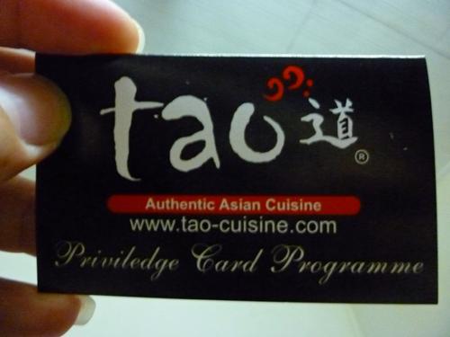 Tao Japanese Buffet Privilege Card