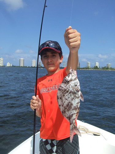 Michael catches a porgy!