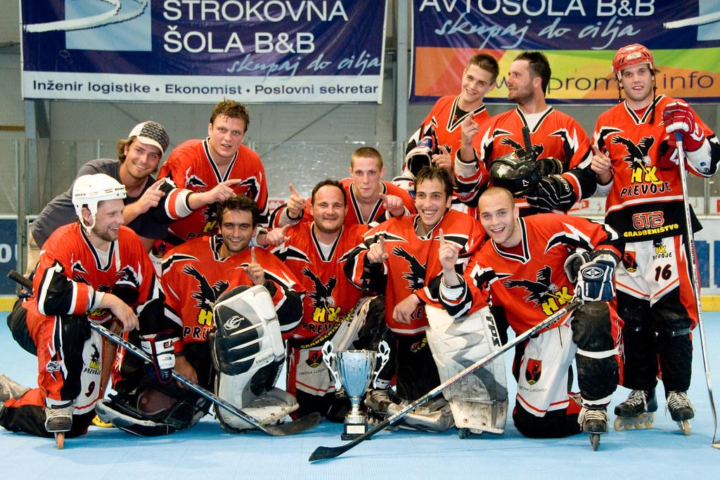 SLO, Inline hockey Masters 2010, HK Prevoje vs. Kavke Kranj