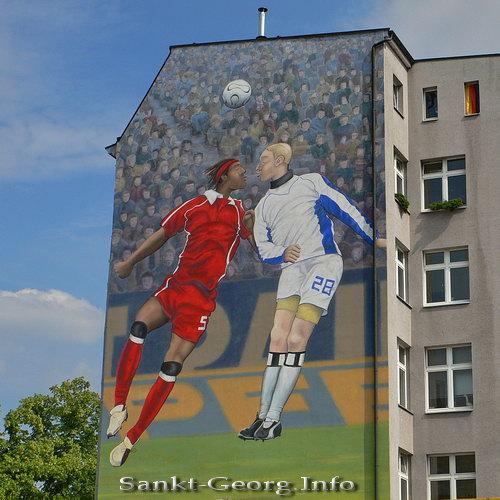 Fußball Wandbild in Hamburg Sankt Georg