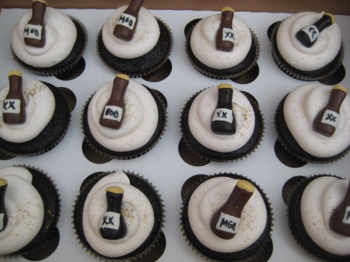 40th birthday Beer themed cupcakes