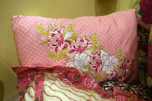 Applique Pillow with Paradise Fabrics