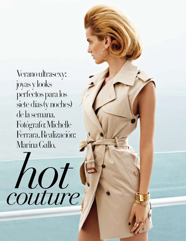 trench vest Hot couture Vogue España June 2010 Denisa Dvorakova by Michelle Ferrara