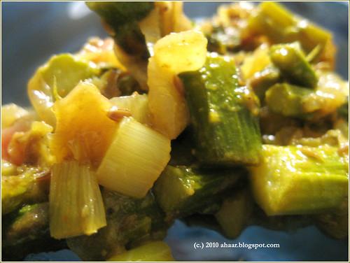 asparagus aar pyaaz bhaja