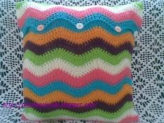Almofada Ripple (Croche Colorido) Tags: ripple crochet capa pillow almofada crochecolorido pontoripple