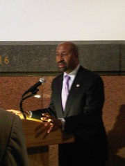 Mayor Nutter at the opening reception for The Art Gallery At City Hall