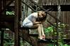 blackwaterchild (yyellowbird) Tags: house abandoned girl stairs wooden cabin tennessee lolita cari greatsmokymountains elkmont tyjon