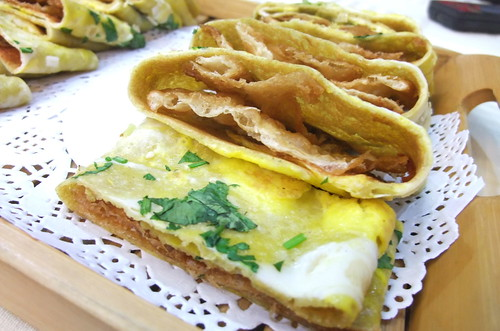 Egg Crepe with Sweet Crispy Fritters