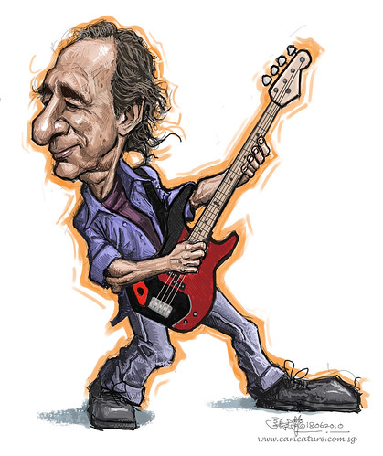 digital caricature of Harry Shearer - smaller