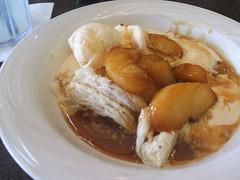 Apple crisp and vanilla ice cream