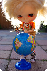 Ducky discovers a blip on the globe...