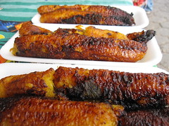 Grilled Plantains in Guatemala