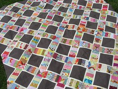 String X quilt top (flossyblossy) Tags: quilt euro x bee quilting string patchwork scrap