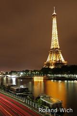 Paris - Eiffel Tower (Rolandito.) Tags: paris france tower seine night frankreich tour eiffel turm