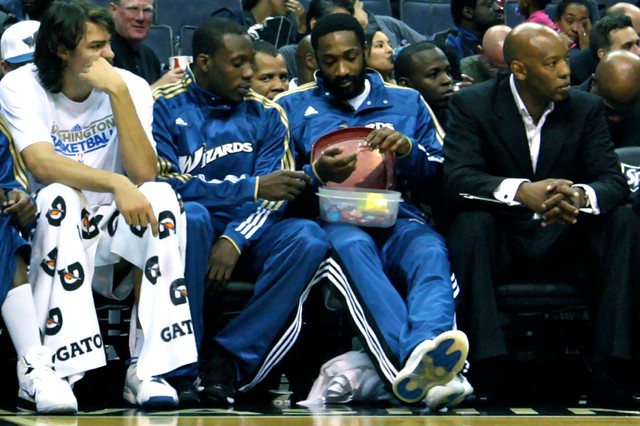 lester hudson, gilbert arenas, washington wizards