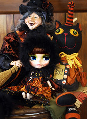 Babette, the witch and the kitty :)