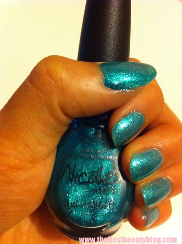 Nicole By OPI, OPI nails, blue, nail polish. Diva Into The Pool