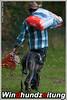 Greyhound Puckaun Zoro-Herbert mit Besitzer Herbert Hetzel, Hetzel Autovermietung
