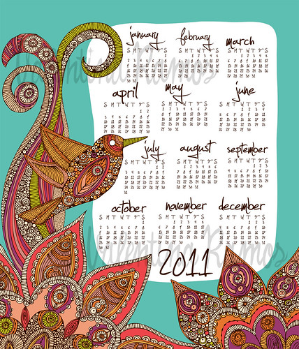 Hello 2011 Tea Towel Calendar