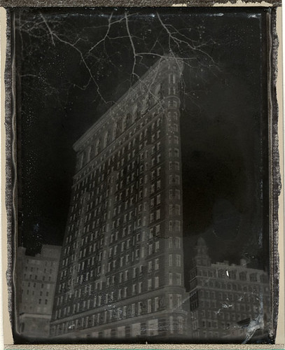 The Flatiron in Winter (negative)
