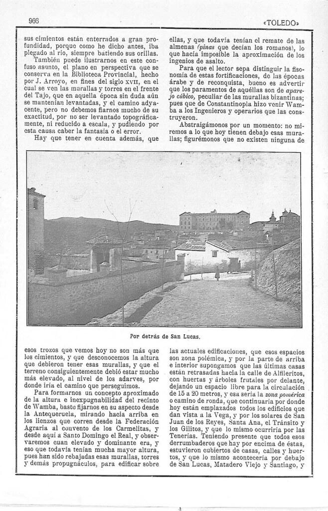 Artículo de Manuel Castaños y Montijano sobre la el nuevo Camino de Ronda de Toledo publicado en la Revista Toledo en julio de 1924. Pág. 4