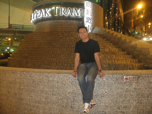 Me at the Peak Tram entrance!