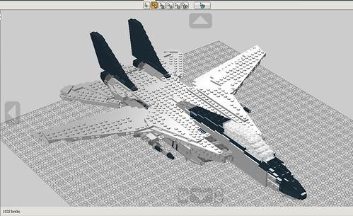 LEGO F-14A tomcat 12