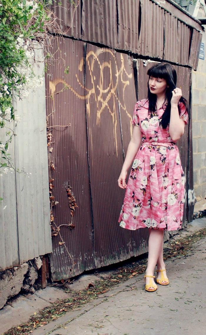 f pink floral h
