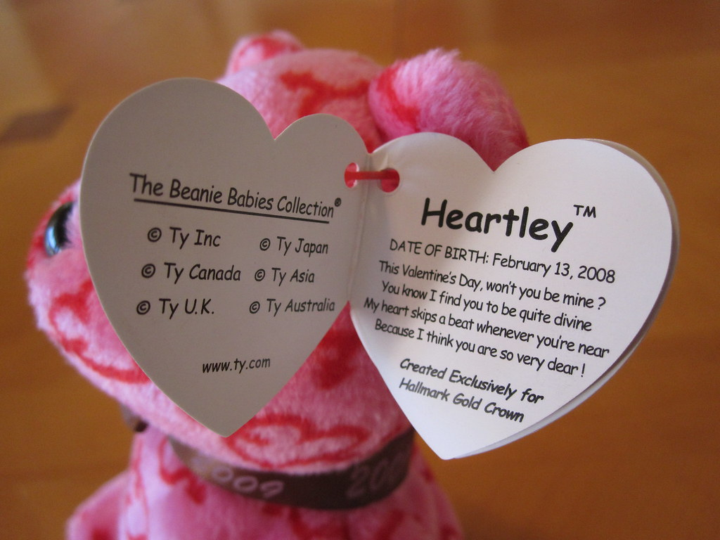 Ty Heartley Beanie Baby Hang Tag (jessicagreen0202) Tags baby holiday cute  love hearts quality ... a47ff339bcf8