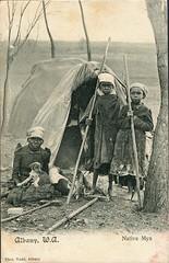 Aboriginal Mia in Albany, W.A. - 1906 (Aussie~mobs) Tags: australia aborigine native indigenous vintage thomastodd nativemiamia shelter albany westernaustralia family children 1906 aussiemobs