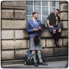 Kilted Buskers (FotoFling Scotland) Tags: edinburgh scotland bagpipe busker kilt streetperformer fotoflingscotland largesporran
