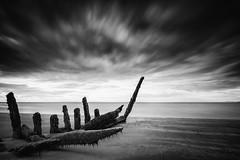 Shipwrecked (Fifescoob) Tags: shipwreck scotland wreck ruin decaybeach sea ocean seascape history lothian longniddry beach tide mono blackandwhite leefilters bigstopper canon eos 5ds ndgrad polarised