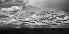 Summer rains in the big country.  New Mexico, USA. (cbrozek21) Tags: blackandwhite newmexico sky clouds weather summerrains landscape panorama pentaxart