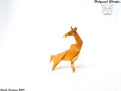 Origami Girafe - Barth Dunkan. (Magic Fingaz) Tags: barthdunkan girafe giraffe jerapah jirafa origami žirafa καμηλοπάρδαλη жираф жирафа जिराफ़ ยีราฟ 기린 キリン 长颈鹿