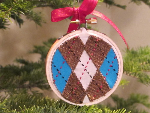 Up-close of argyle ornament